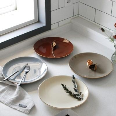 에크렌 골드 림(rim) 원형 접시 대 - 4color_(3188831)