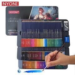 Nyoni 100색 수채화 색연필 철제틴케이스