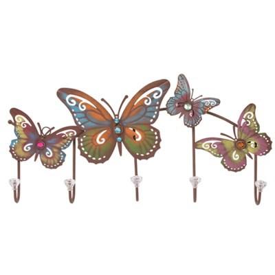 빈티지 나비 철재 벽옷걸이 가방걸이 후크걸이