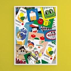 모노하 콜라주2 M 유니크 인테리어 디자인 포스터