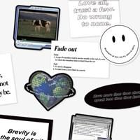 Black Typing Sticker Pack