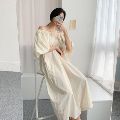 [모어댄베러]셀리나 벌룬 롱원피스