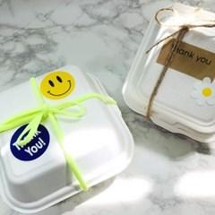 친환경 펄프용기 일회용 도시락박스 선물 포장상자