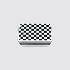 checkerboard tin case