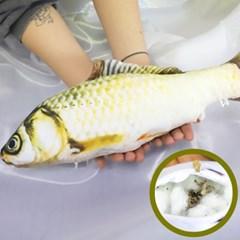 물고기 고양이 캣닢 장난감 용품 40cm (황녹붕어)_(301873308)