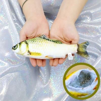 물고기 고양이 캣닢 장난감 용품 20cm (황녹붕어)_(301873303)
