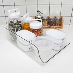 다용도 보관 가능한 투명 냉동실 냉장실 캔 트레이 보관 홀더