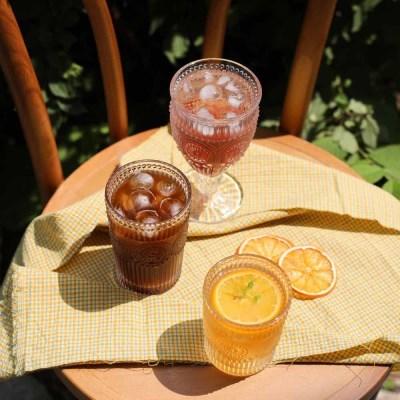 오즈 뉴트로 홈카페 글라스 집들이 선물용 예쁜 유리컵