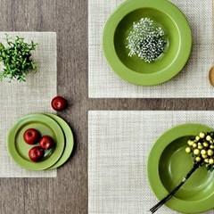 Green PVC 사각/스키니 테이블매트 (베이지)