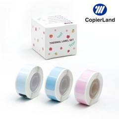 D30S 전용 라벨테이프 DCP1240-125T3 단색 Pink&blue