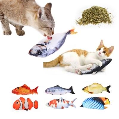 왕멍멍 리얼피쉬 고양이 생선 장난감 마약 쿠션