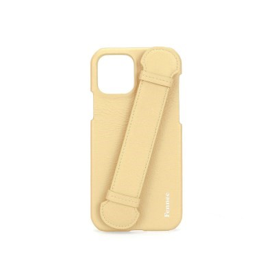 FENNEC LEATHER IPHONE 12 / 12PRO HANDLE CASE - TINT YELLOW