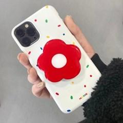 [모양톡+하드케이스 빨강꽃]아이폰se2 아이폰x 커플케이스 a30 S10
