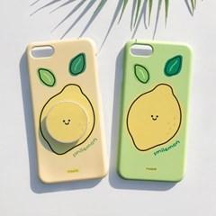 [그립톡+카드슬라이드케이스 스마일레몬]아이폰se2 아이폰x 커플케이