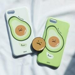[그립톡+카드슬라이드케이스 앙보카도]아이폰se2 아이폰x 커플케이스