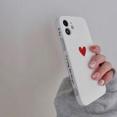 아이폰 케이스 12 11 프로 맥스 미니 X 8 하트 레터링