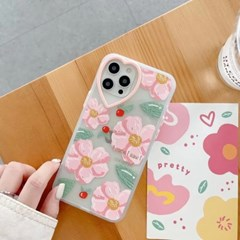 아이폰 케이스 12 11 프로 맥스 미니 X 8 7 플라워