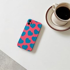 아이폰 케이스 12 11 프로 맥스 미니 X 8 7 심플 하트