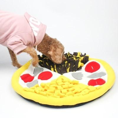 강아지 피자 노즈워크 후각발달 훈련담요 도그미노 스너플매트