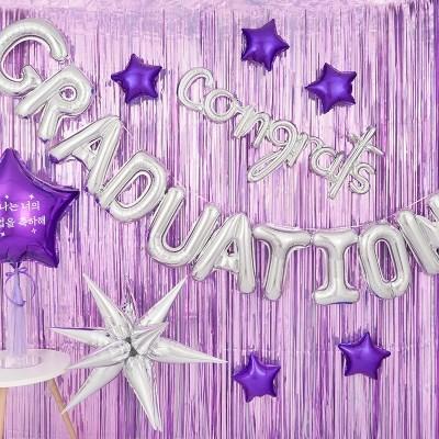 졸업 축하 파티장식세트 [콩그레이츠 그래듀에이션 펄연_(12264646)