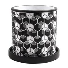 미미네가든 유럽풍 무늬도자기 화분 (블랙) - 14cm_(1302106)