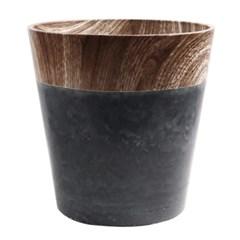 미미네가든 나무무늬 PVC 화분 (딥그레이) - 31cm_(1302103)