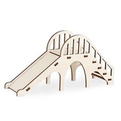 펫 목재 입체퍼즐 - 햄스터 놀이터 미끄럼틀