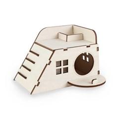 펫 목재 입체퍼즐 - 햄스터 놀이터 1층 집