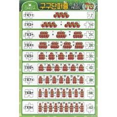 63조각 판퍼즐 - 구구단 7단