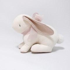 리틀램스토리 코튼 코듀로이 토끼 인형 (리본에 이름자수)