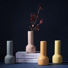 포인트 인테리어 세라믹 오브제 화병 모던 디자인 컬러 꽃병