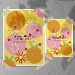 Fruity Summer 포스터 트로피컬 썸머컬러포스터