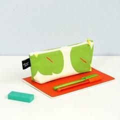 [pencil case] cotton green