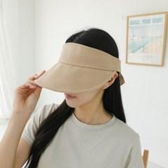 뒷리본 무지 기본 챙넓은 자외선차단 패션 썬캡 모자