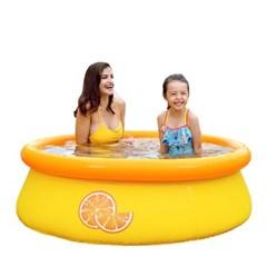 150 오렌지 원형풀장 탑링 수영장 욕조 물놀이 홈캉스