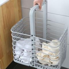 세탁 빨래바구니 빨래통 접이식 틈새활용 폴딩바스켓