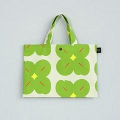 패턴 토트백 cotton green
