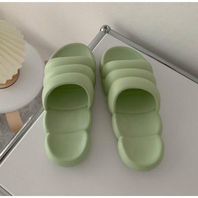 구름 마쉬멜로우 실내 사무실 슬리퍼 남녀공용 민트