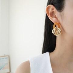 호마이카 링 베이지 그린 패션 E1196 귀걸이