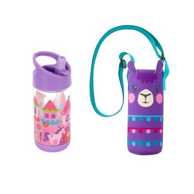 어린이집 선물 세트(물병가방+빨대물병) - 프린세스라마