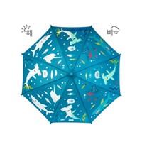 컬러체인징 우산 - 상어