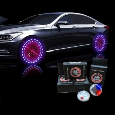 메이스 타이어 밸브캡 LED 태양광충전 타이어마개