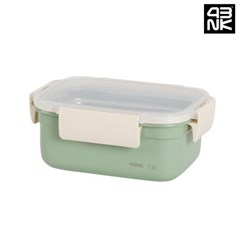 프라임락 민트 컬러 스텐 밀폐용기 직사각 5호 1.2L