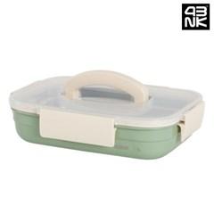 프라임락 민트 컬러 스텐 밀폐용기 핸디 직사각 8-1호 1.9L