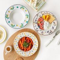푸치 플라워 파스타접시 3color 택1 / 샐러드볼 덮밥 그릇