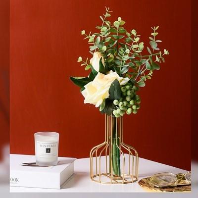 포인트 소품 인테리어 플라스크 한송이 화병 고급스러운 디자인 꽃병