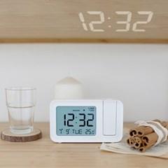 [무아스] 스마트빔 프로젝션 LED시계 온도 달력 알람