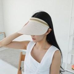 스트라이프 줄무늬 챙넓은 자외선차단 썬캡 모자