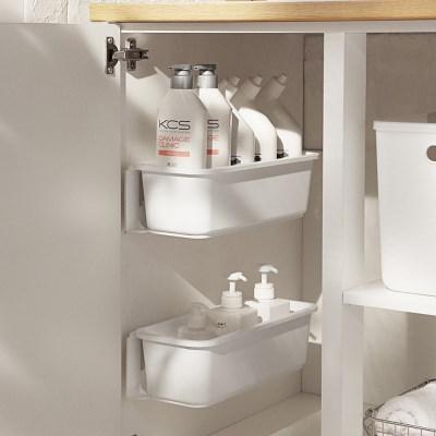 주방수납장 씽크대 다용도 수납함 화이트