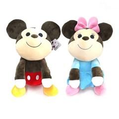 정품 대형 디즈니 베스트 프렌즈 미키,미니 마우스 싯팅 봉제인형 40
